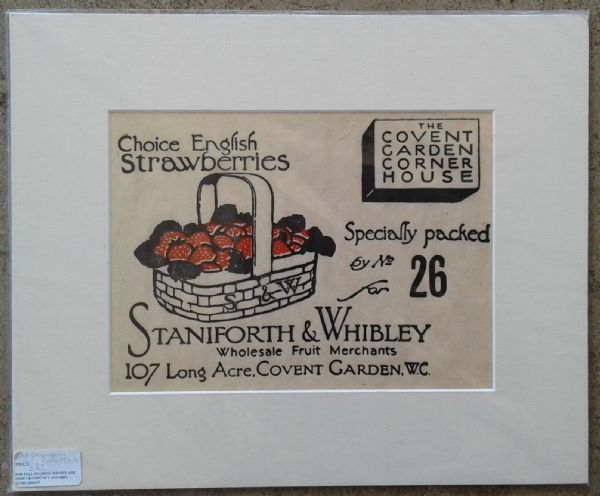 Original old strawberry punnet cover